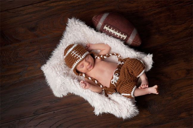 Baby in Sports Costumef