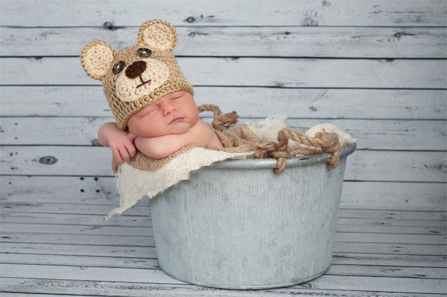 Baby with Bear Hat