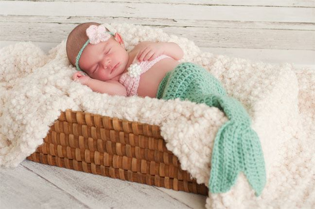 Baby in Mermaid Costume
