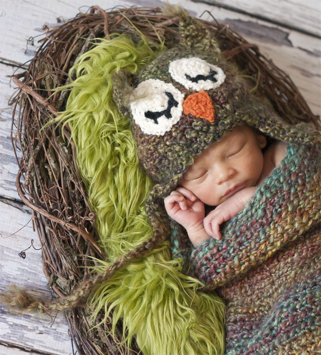 Baby in a Nest