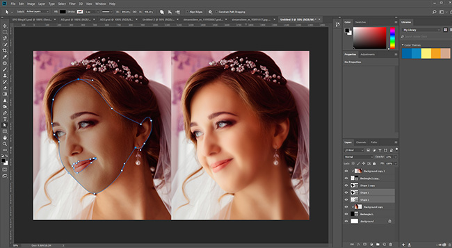 Photoshop - Wedding Photo Editing